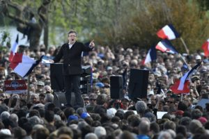 Jean-Luc Melenchon speaks at a campaign rally in Toulouse ©Rondeau Pascal/ABACA/ABACA/PA Images